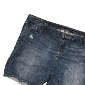 Plus size 24W jean shorts